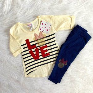 Disney Junior Baby Girls Minnie Mouse Leggings Set